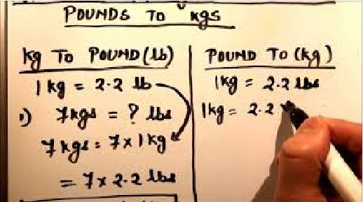 how to convert pounds to kg manually