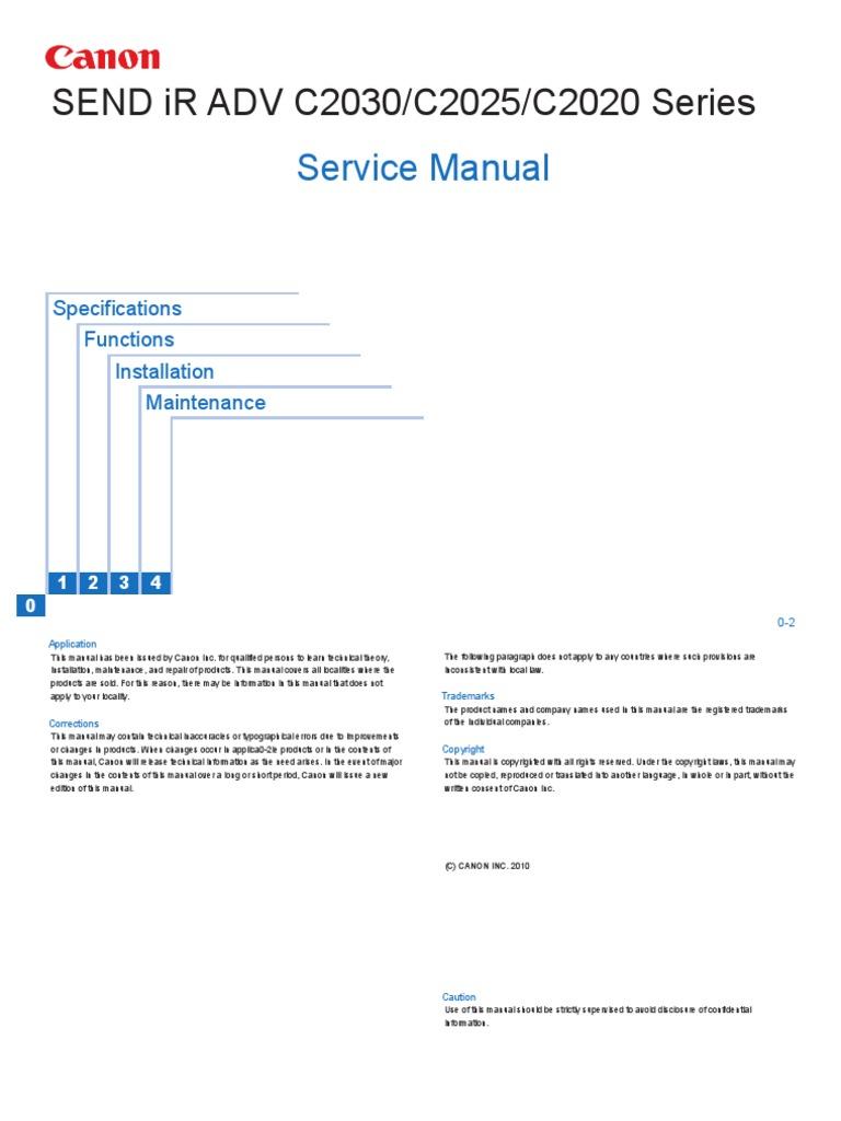 canon ir adv c3325 manual