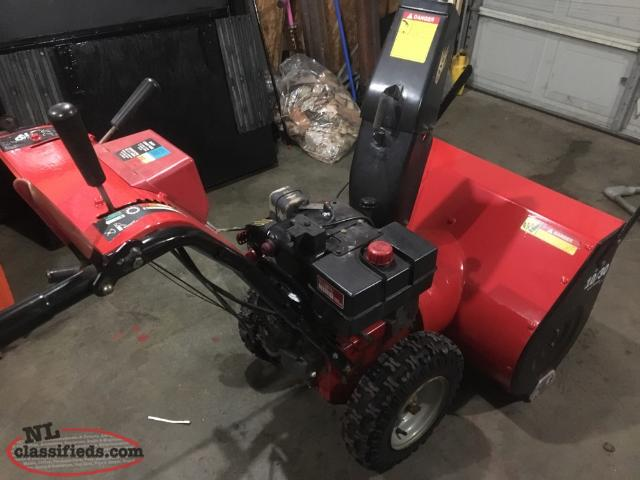 mastercraft snowblower 10.5 hp 30 manual