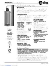 rheem power vent water heater manual