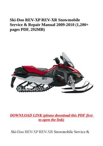 1995 ski doo shop manual pdf