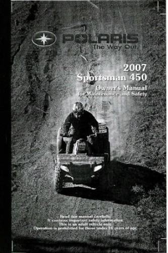 2006 polaris sportsman 450 owners manual