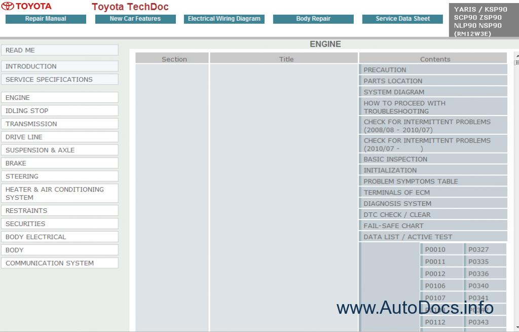 2008 yaris repair manual download