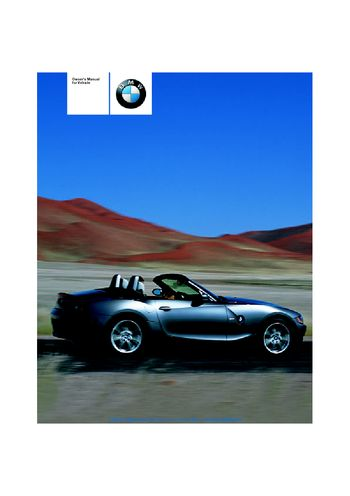 2009 bmw z4 owners manual pdf