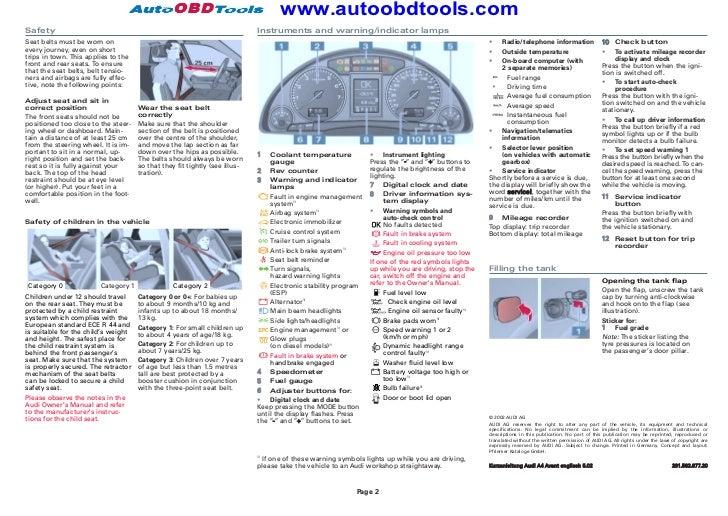 2013 audi a4 owners manual pdf