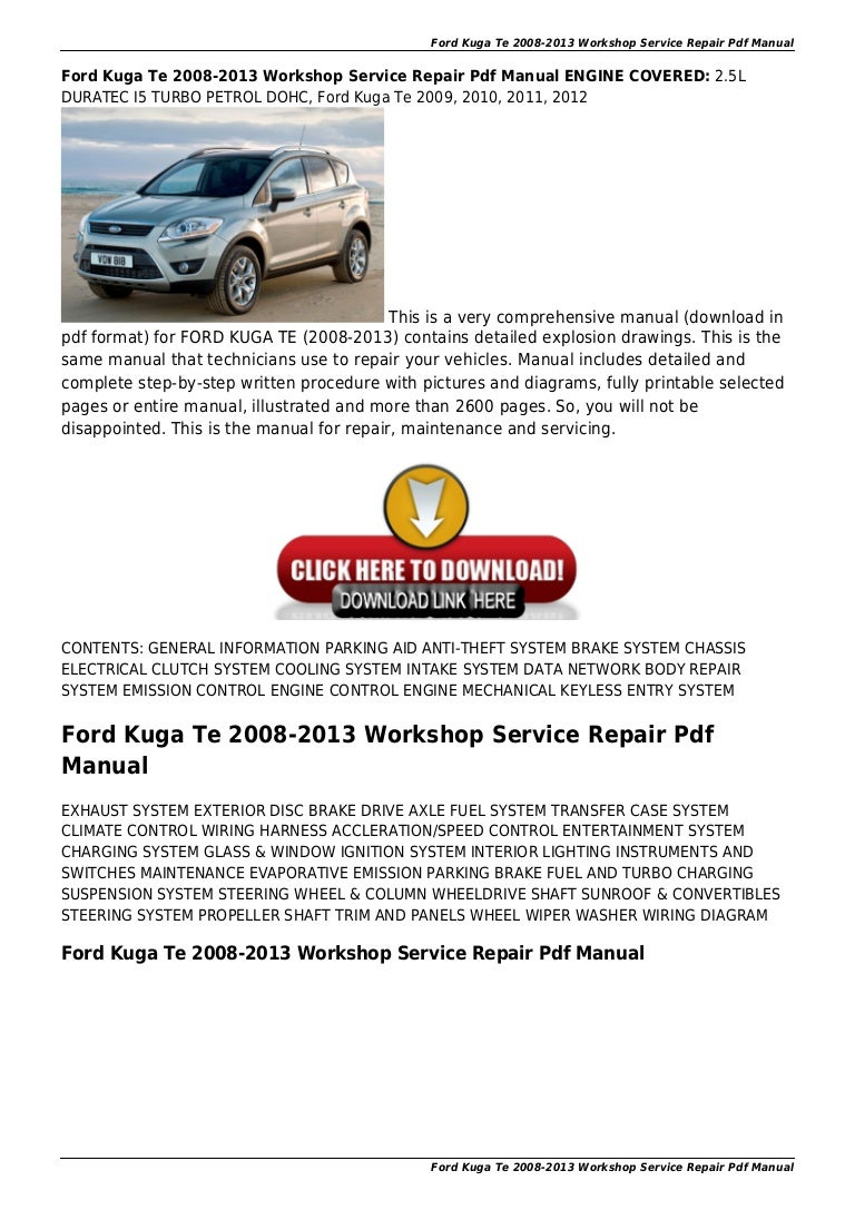 2013 ford taurus repair manual pdf