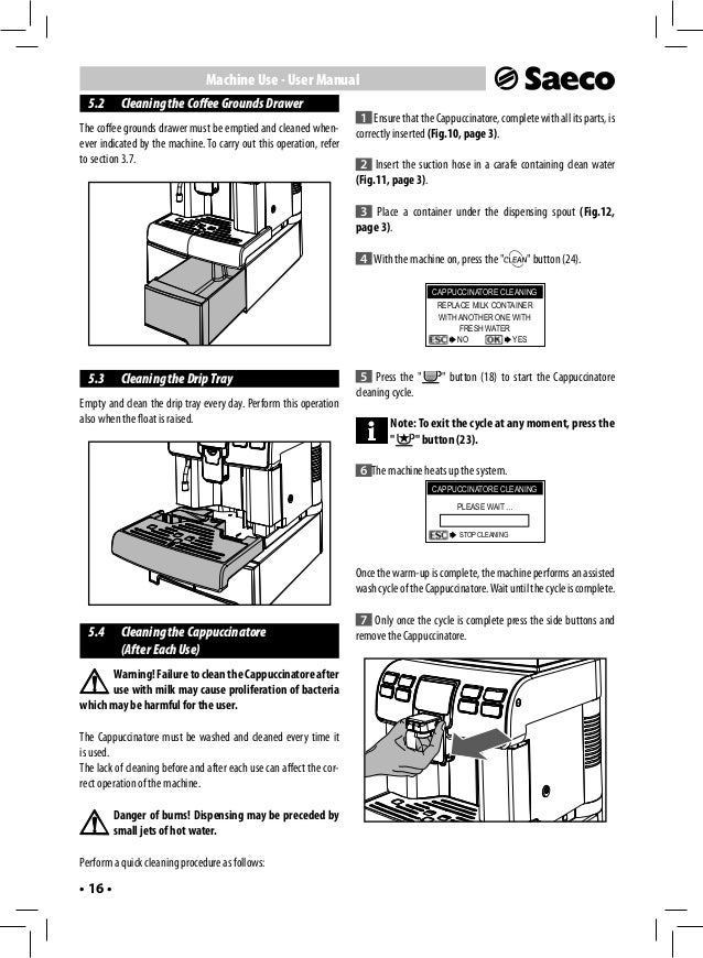 saeco italia espresso machine manual