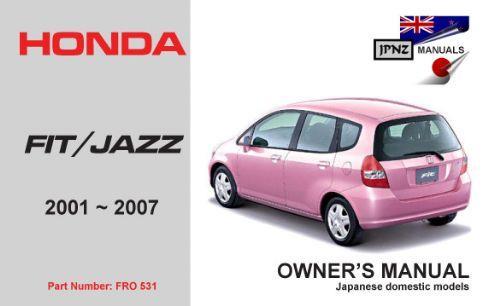 2007 honda fit service manual download