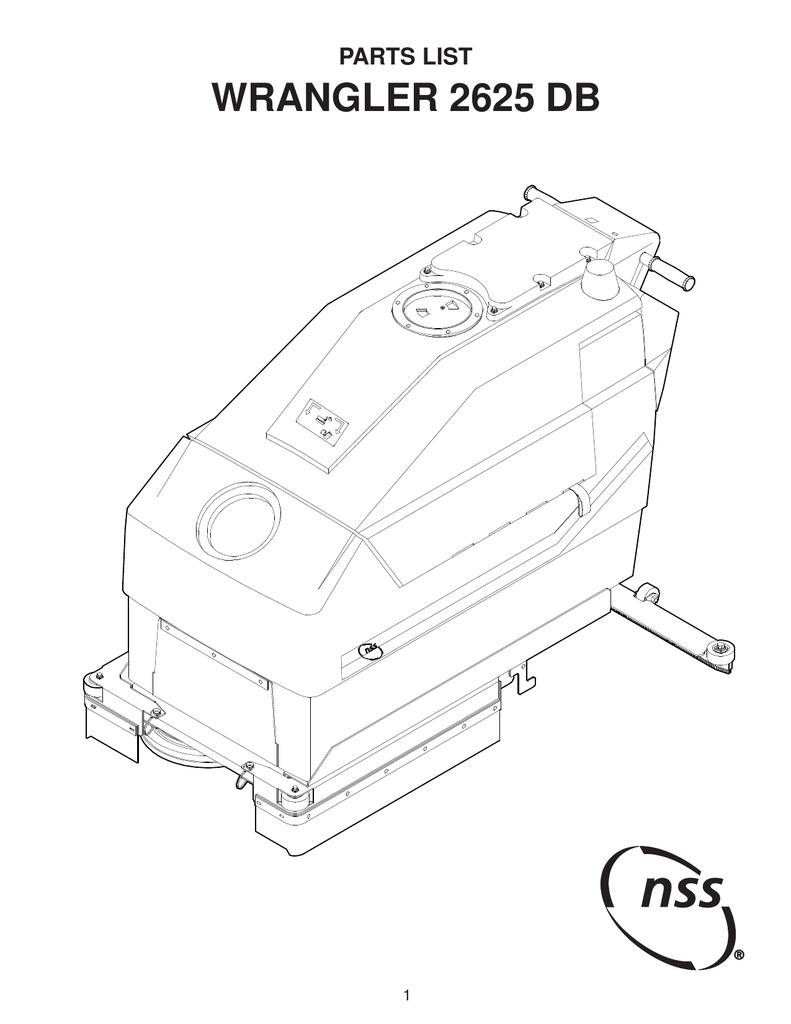 nss wrangler 2625 db parts manual