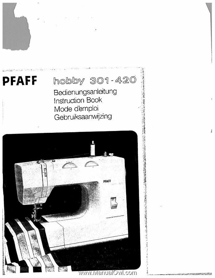 pfaff hobby 1142 manual download