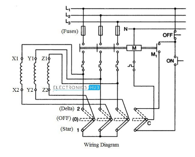 3 phase manual motor starter switch