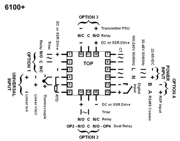 west 6100 temperature controller manual