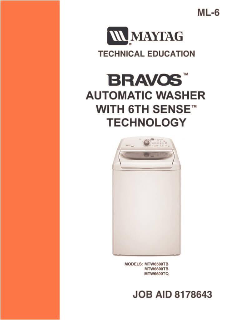 maytag bravos mct washer manual