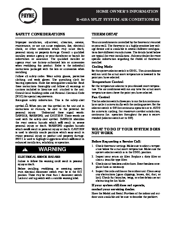 carrier air conditioner service manual