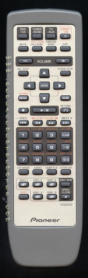 pioneer receiver remote control manual