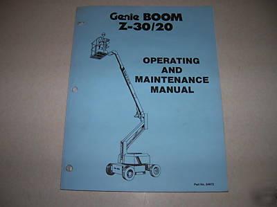 genie s40 boom lift manual