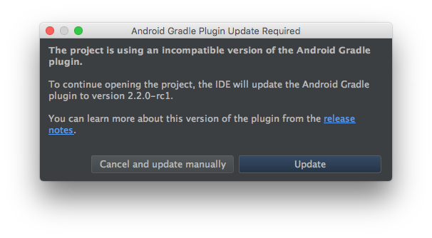 how to update android studio manually