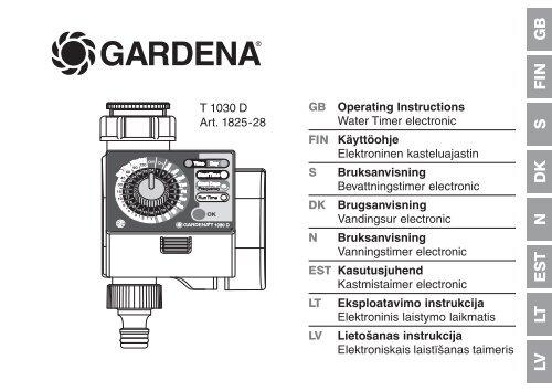 gardena t 1030 d user manual