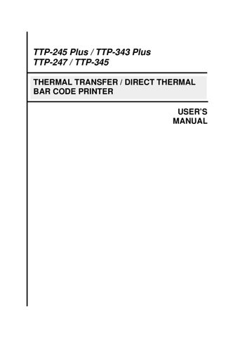 tsc ttp 247 user manual