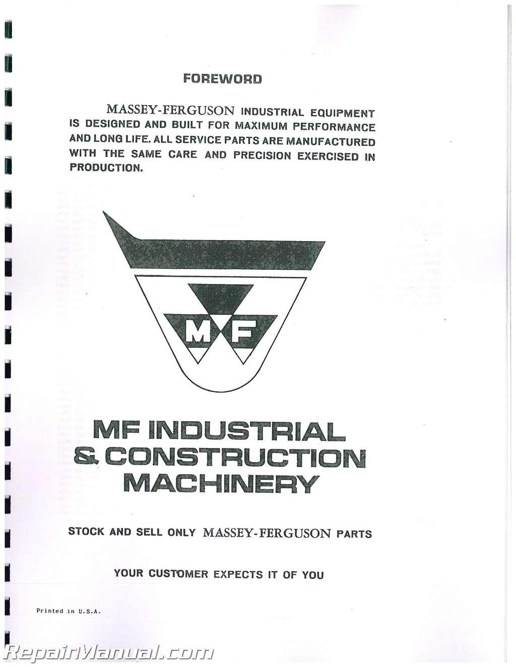 massey ferguson 1100 parts manual