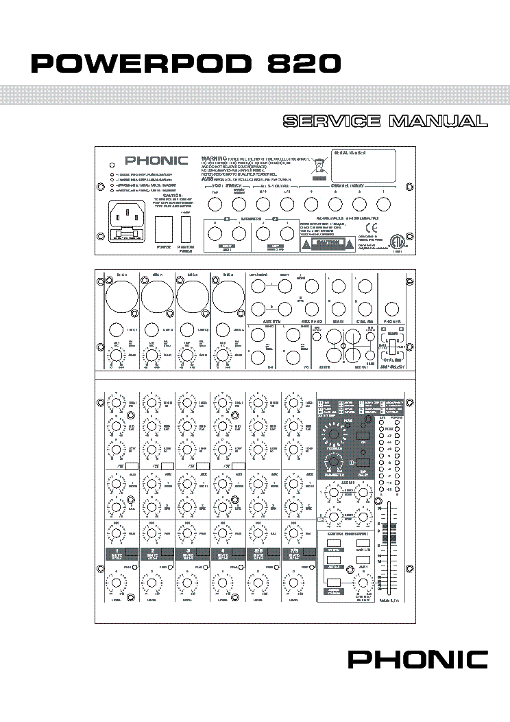 phonic powerpod 740 service manual