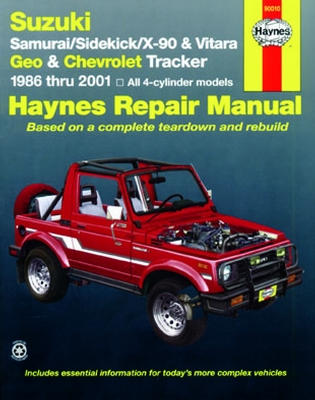 2001 chevy tracker parts manual