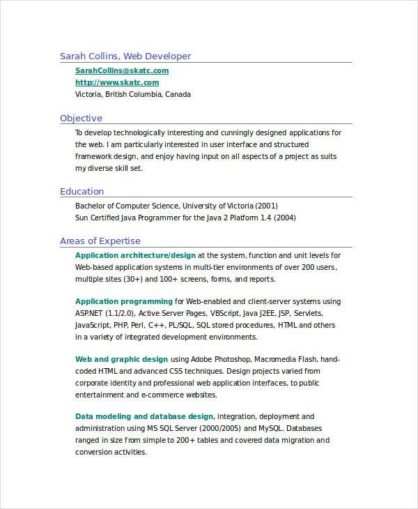 manual testing resume for freshers