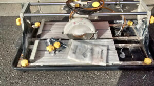 mastercraft wet tile saw owners manual