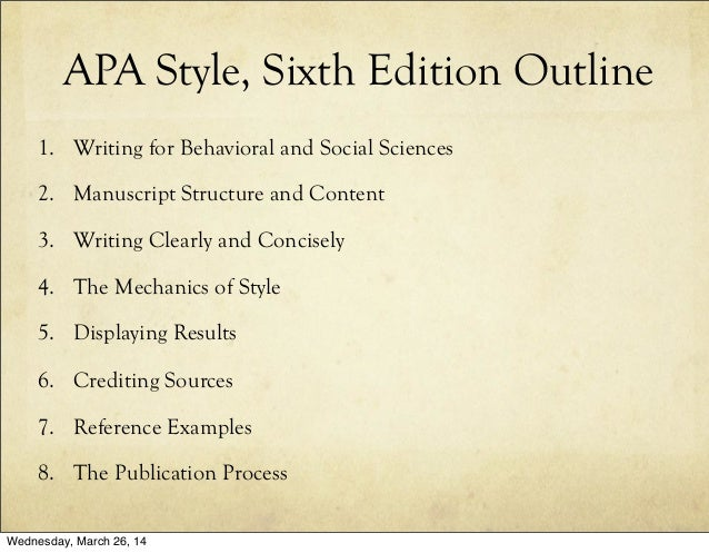 apa publication manual 6th edition citation