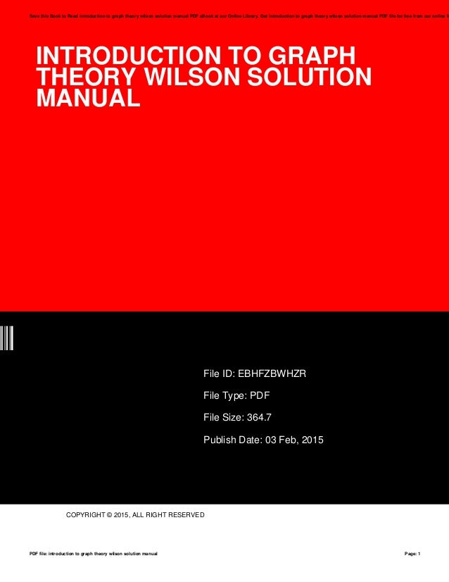 introduction to graph theory wilson solution manual pdf