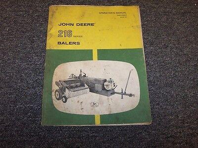 john deere 335 round baler manual