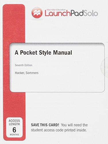 diana hacker a pocket style manual