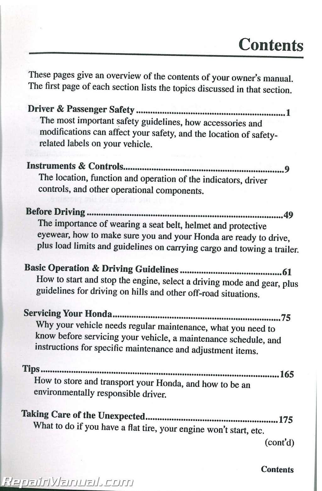 honda big red service manual
