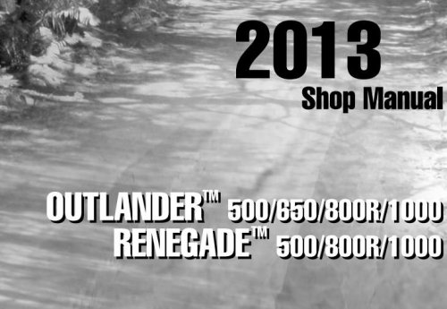 shop manual can am outlander