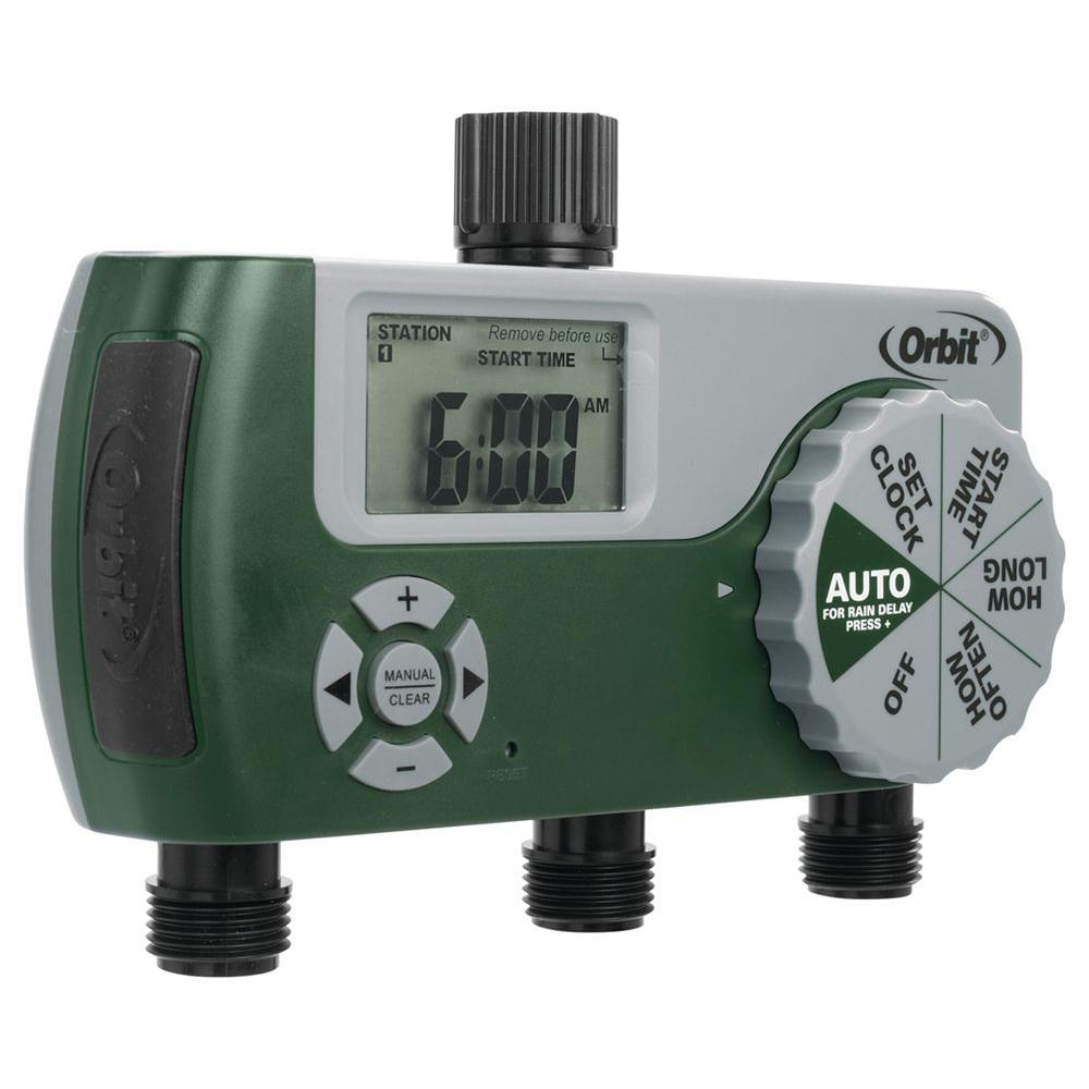 noma outdoor timer with 2 outlets manual