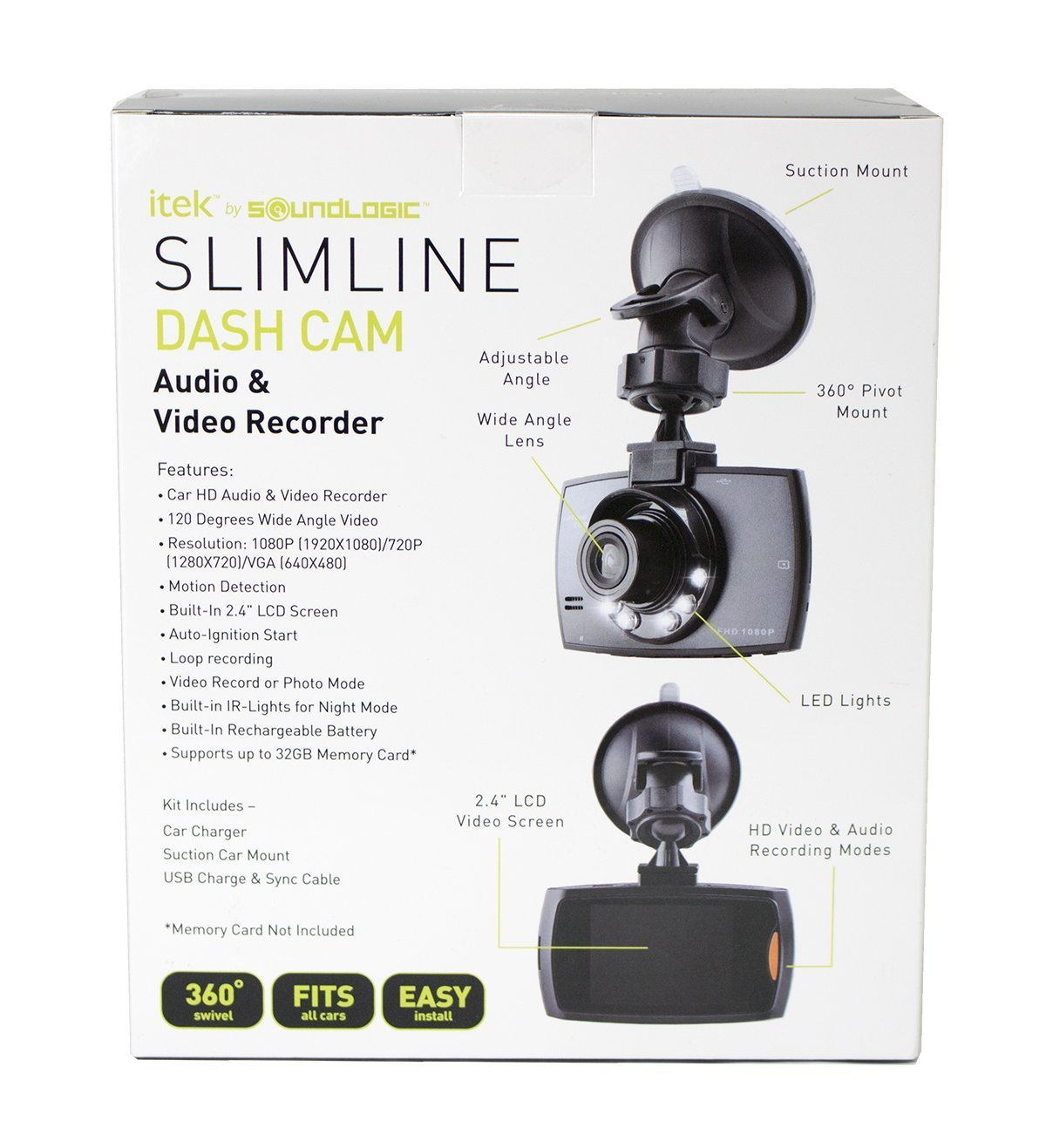 itek by soundlogic slimline dash cam manual