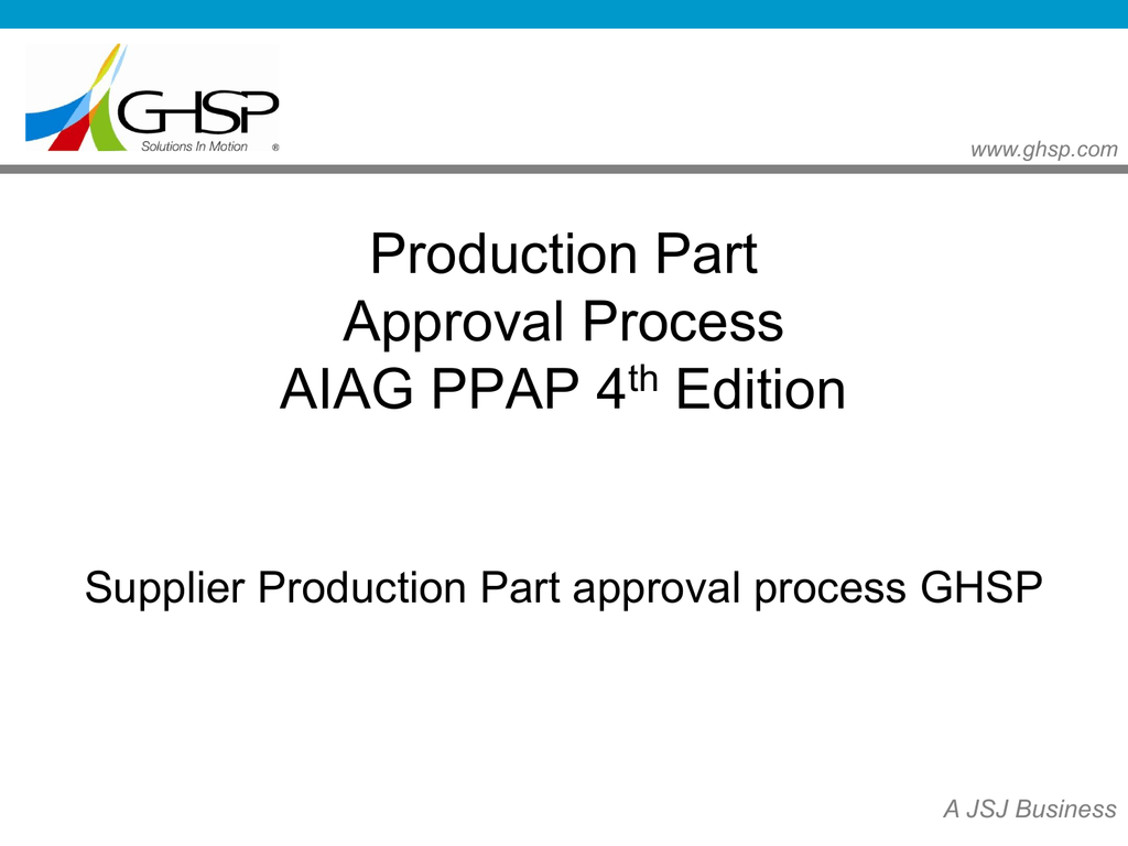 aiag ppap manual 4th edition