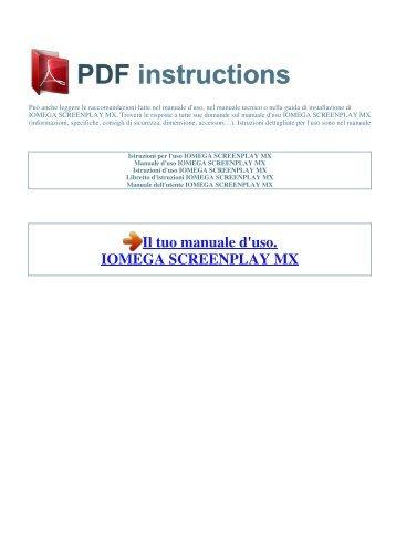 iomega screenplay tv link dx manual