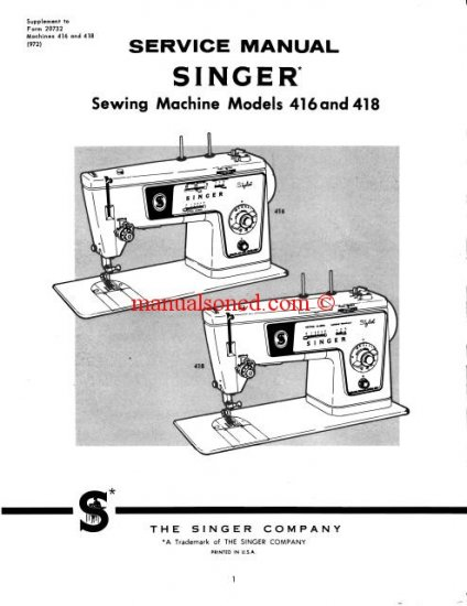 quick fix singer sewing machine manual
