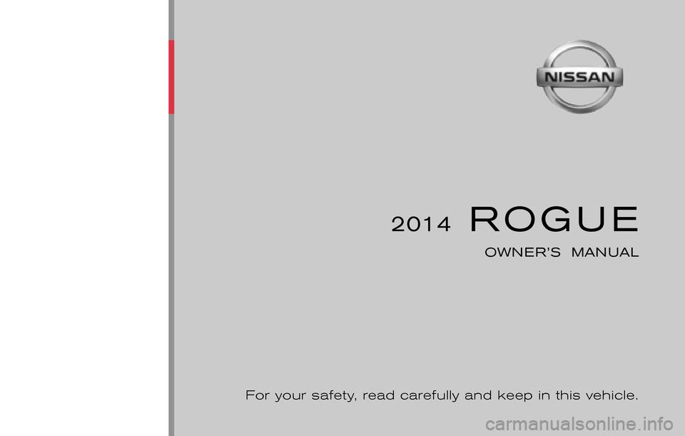 2014 nissan rogue maintenance manual