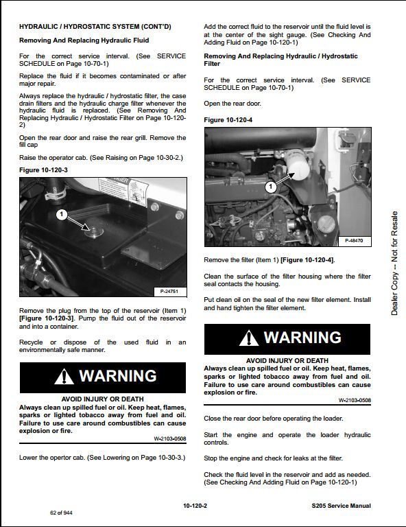216b cat skid steer service manual