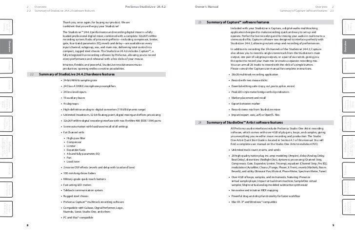 presonus studiolive 24.4 2 manual pdf