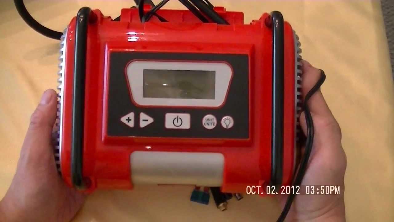 motomaster air compressor with digital display manual