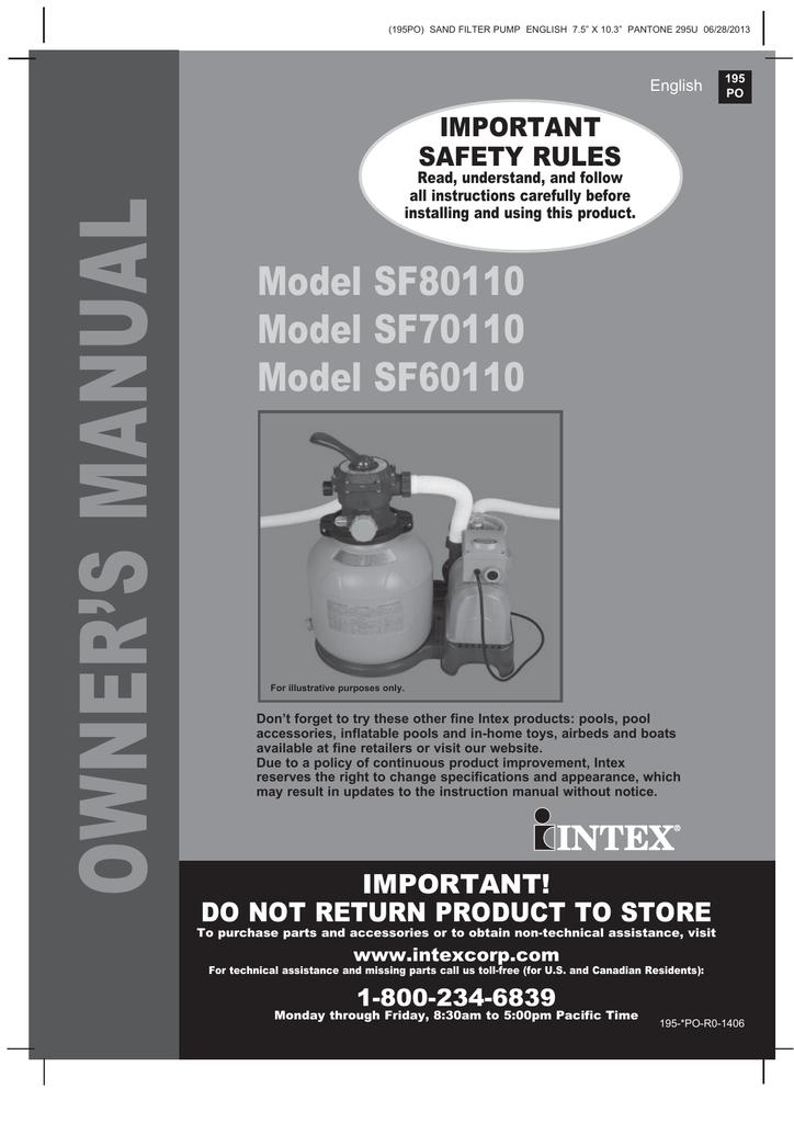 intex sand filter pump sf70110 manual