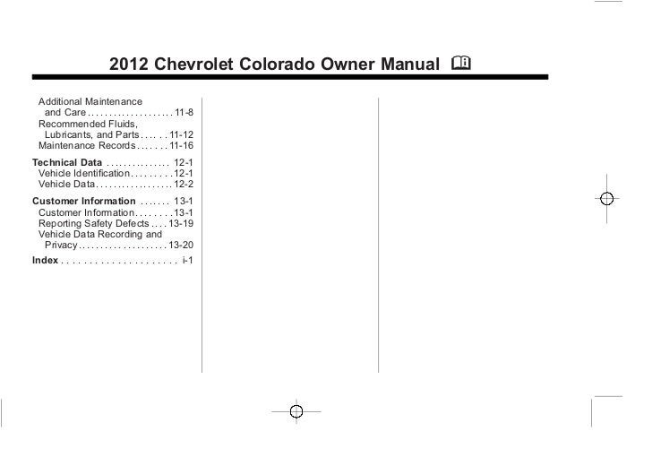 chevy colorado service manual pdf