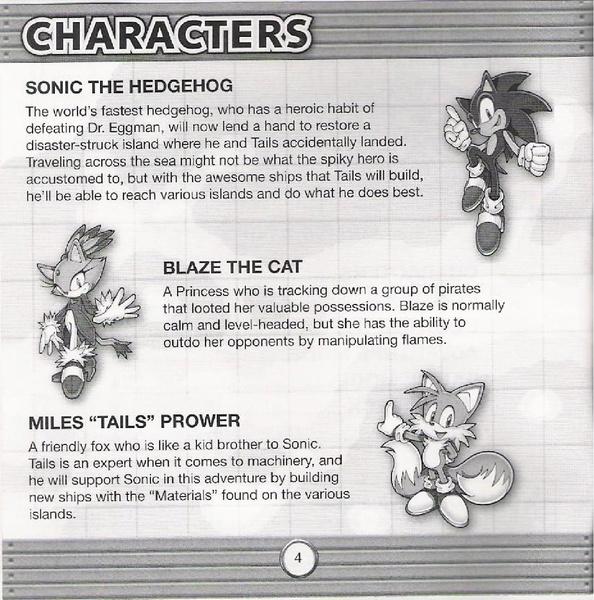 sonic the hedgehog instruction manual