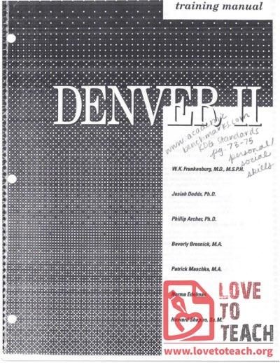 denver ii training manual pdf