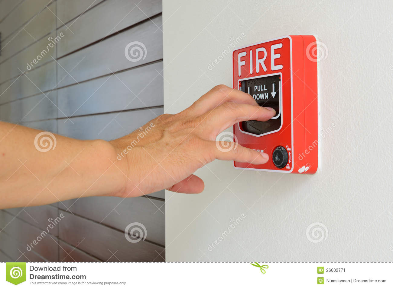 dye pack manual fire alarm pull stations