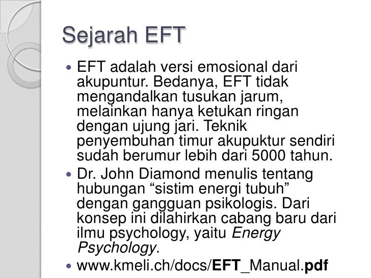 emotional freedom technique manual pdf