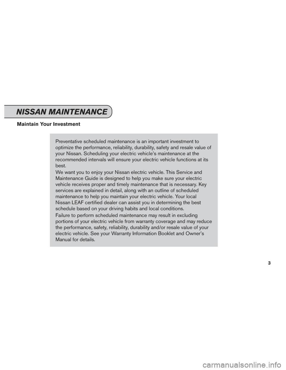 2015 nissan leaf service manual